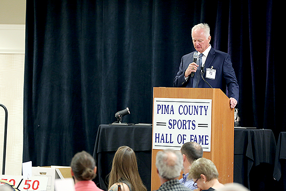 Pat Darcy President Pima County Sports Hall of Fame