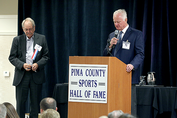 Bill Fields and Pat Darcy Pima County Sports Hall of Fame