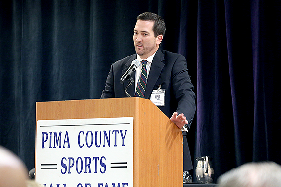 Ryan Lynch for his father Dave Lynch Pima County Sports Hall of Fame