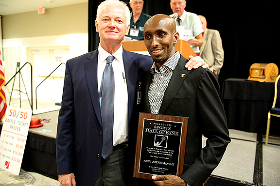 Pat Darcy and Abdi Abdirahman Pima County Sports Hall of Fame
